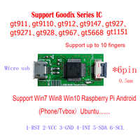 Capacitive Touch Controller I2C TO USB Controller Board GT911 9110 GT5668  Support Raspberry WIN7 8 10