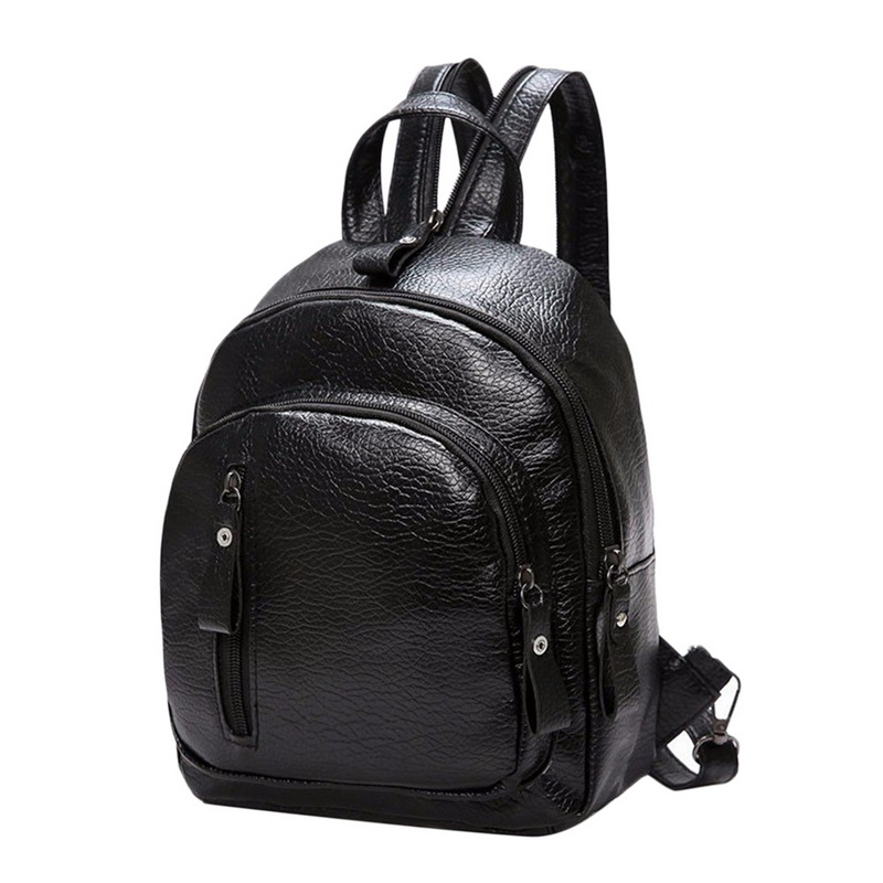 Litthing High Quality PU Leather Women Backpack Fashion Solid School Bags For Teenager Girls Casual Women Black Backpacks 2018 wellvo women solid vintage backpacks for teenager girls black multifunctional backpack new designed high quality rucksack xa84wb