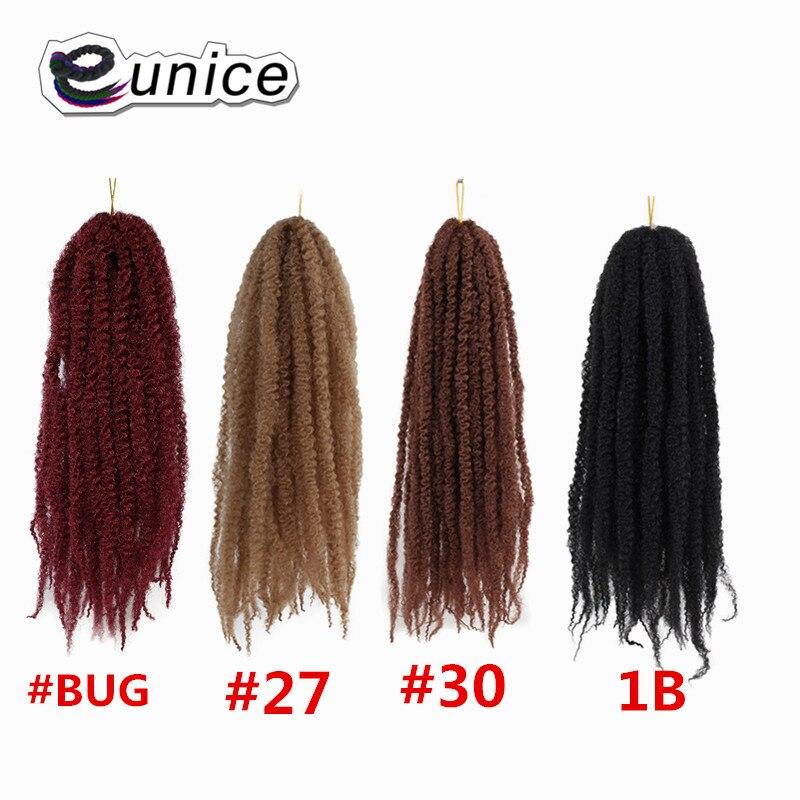 Marley Braids Hair Extension Synthetic Ombre Afro Kinky Crochet Kanekalon Braiding Hair (4)