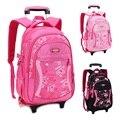 Trolley Children School Bags for Girls Backpack Wheeled Kids Schoolbag Student Bags Mochila Infantil Bolsas Mochilas Femininas