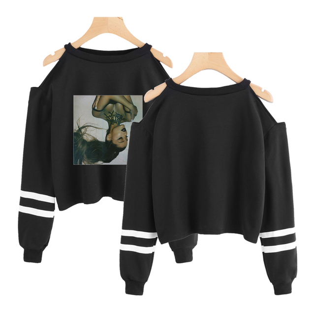 ARIANA GRANDE OFF SHOULDER SWEATSHIRT (4 VARIAN)