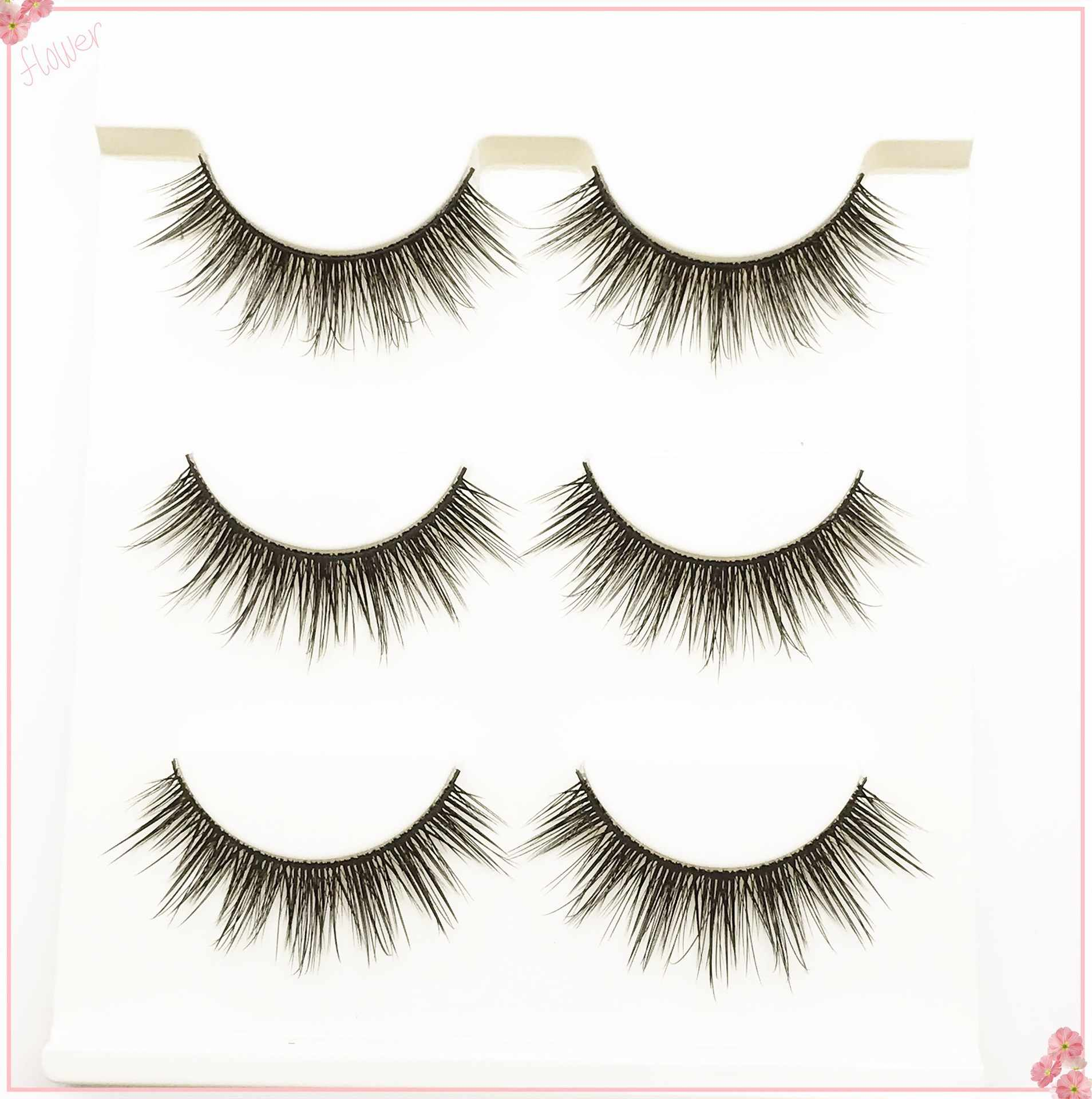 770fd136833 2019 new 3 pairs natural false eyelashes fake lashes long makeup 3d mink  lashes extension eyelash