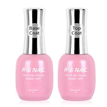 RS NAIL Base and Top Coat UV Gel Primer Peel Off No Wipe High Gloss Matte Reinforce Quality 15ml