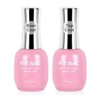 RS NAIL Base and Top Coat UV Gel Primer Peel Off Base No Wipe Top Coat High Gloss Top Matte Top Reinforce Gel High Quality 15ml