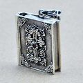 Vintage Lord Bible Cross 925 Sterling Silver Book Charm