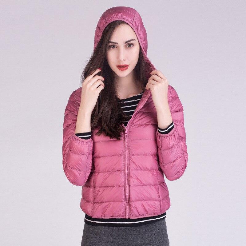 2017 New Brand 90% White Duck Down Jacket Women Autumn Winter Warm Coat Lady Ultralight Duck Down Jacket Female Windproof Parka