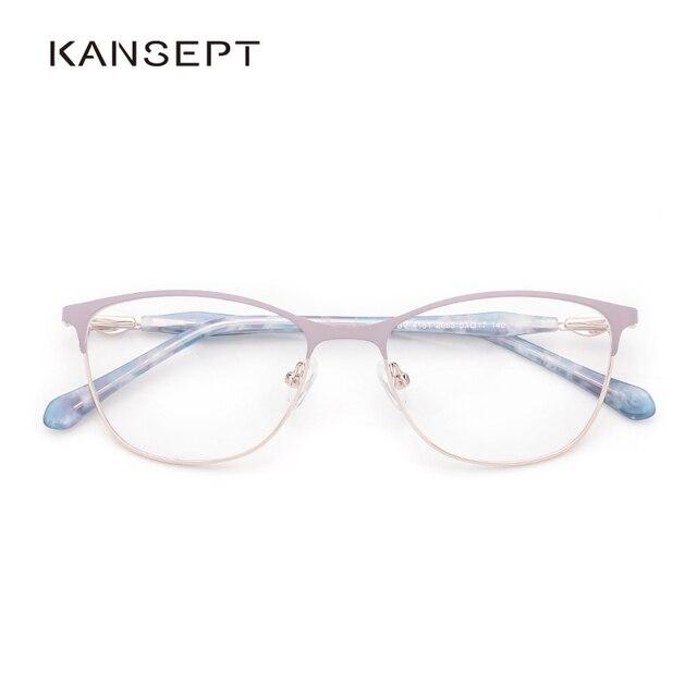 Metal Women Eyeglasses Frame Square Glasses Frame for Myopia 2019 Fashion Lavender Color for Women
