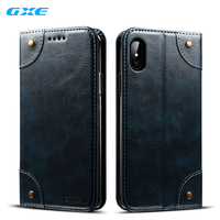 GXE Fashion Luxury Leather Flip Case For IPhone X 10 Apple Mobile Phone Casees Protective Wallet