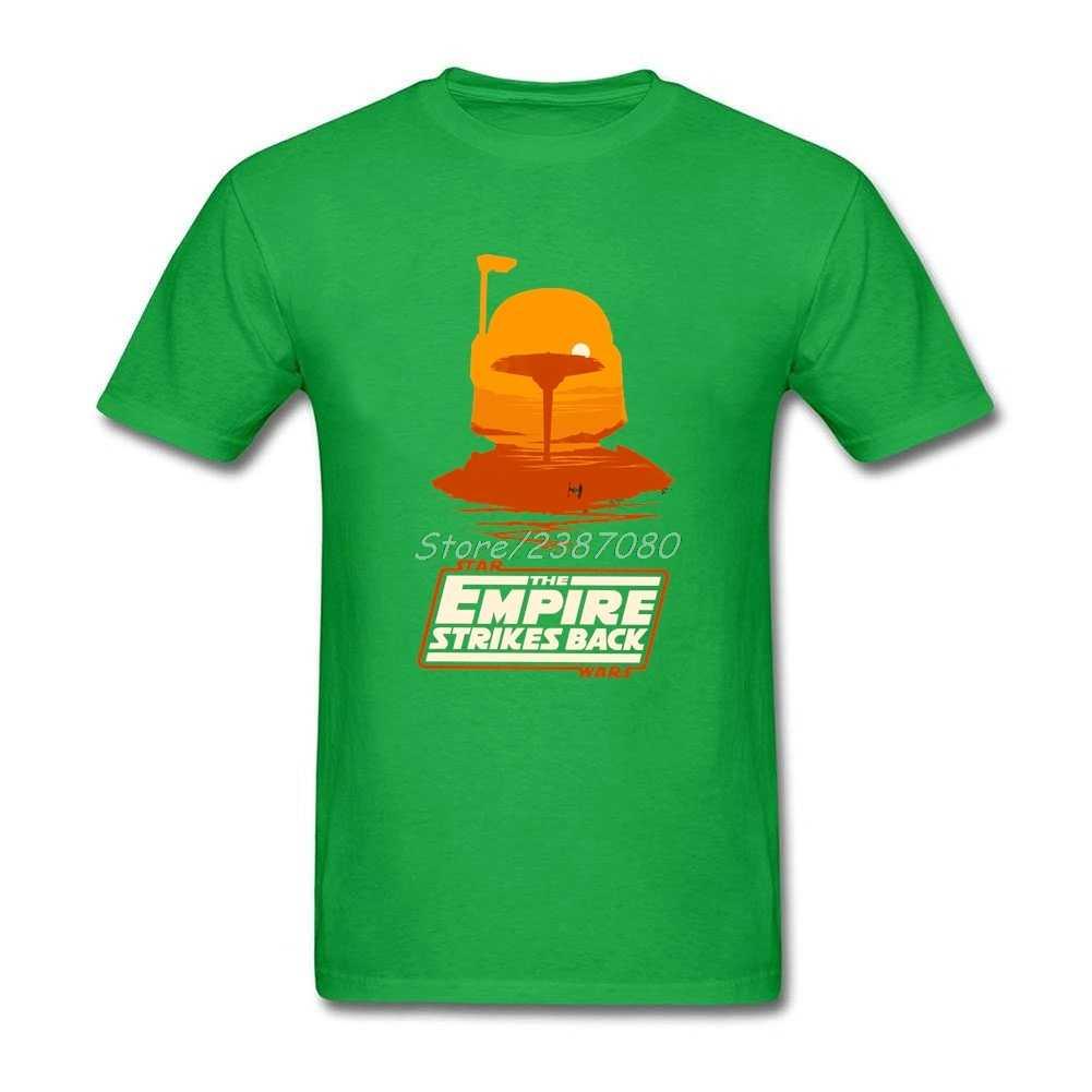 T-shirt Boba fett-cloud City Sunset en coton à col rond personnalisé à manches courtes T-shirts Star Wars pour hommes T-shirts amusants de grande taille