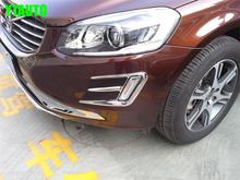 Auto chrome accessories,front fog light  trim for  XC60 2014 2015,ABS chrome,free shipping