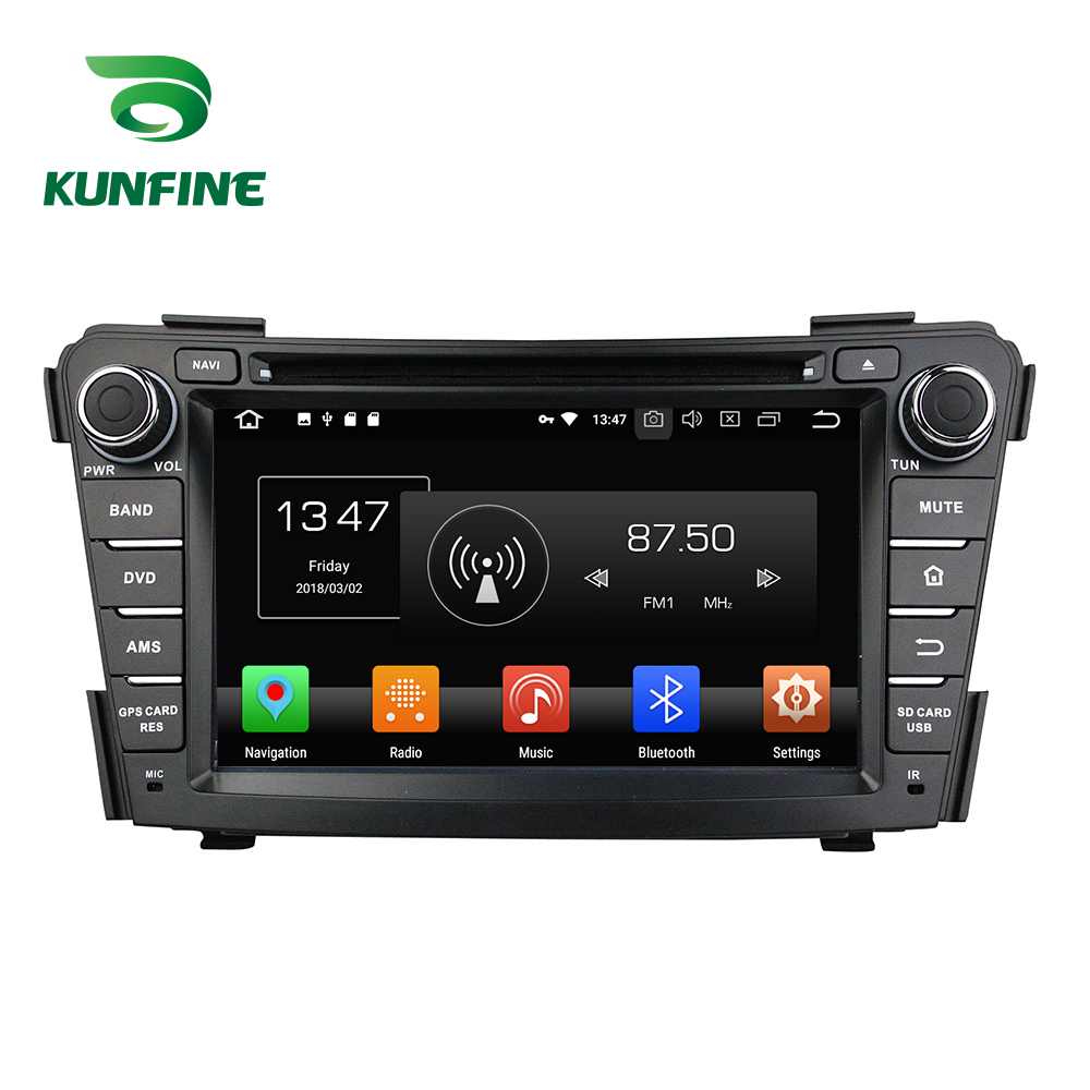 Octa Núcleo 4 gb de RAM Android 8.0 Car DVD GPS Navigation Multimedia Player Do Carro Estéreo para HYUNDAI I40 2011- 2016 Unidade Central de Rádio