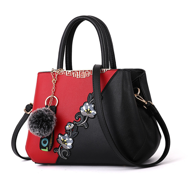 9ea5c2e0fec MONNET CAUTHY Female Totes Classic Fashion Elegant Office Ladies Handbags  Flower Color Red Purple Pink Black
