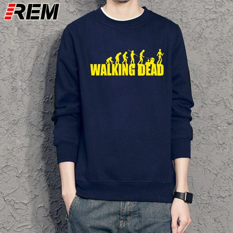 REM brand evolution walking dead dunk Sweatshirts cotton men long sleeve boy casual homme Hoodies tops