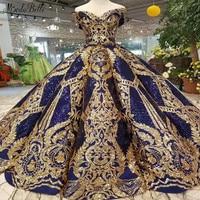 modabelle Gold Royal Blue Sequins Evening Dress Vestidos De Gala Largos Elegantes Ball Gown Arabic Evening Dress Vestido Formal