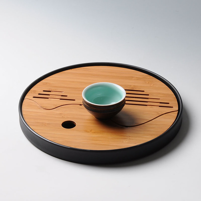 Round & Square Simple Gong Fu Tea Tray