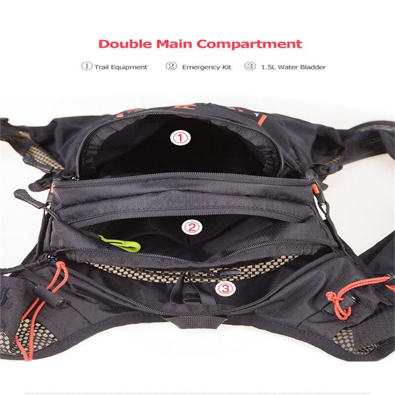 Sac à dos léger d'hydratation 10L sac à dos sac à dos vessie d'eau randonnée course Marathon course cyclisme sac à dos AONIJIE C948 - 5
