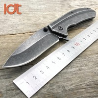 LDT 1306 Tactical Folding Knives 7Cr13Mov Blade Steel Handle Outdoor Knife Camping Survival Hunting Pocket Knife