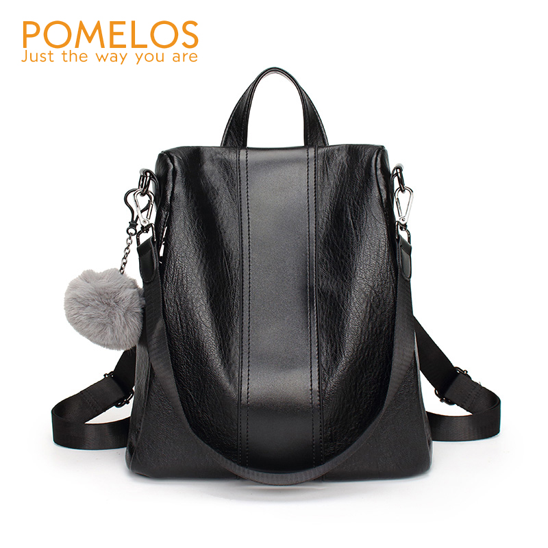 POMELOS Women Backpack Soft Leather PU Bag For Woman To Back High Quality Pack Bags For School Students Girl Anti Theft Backpack pomelos backpack female designer new women leather backpack anti theft high quality soft back pack casual backpacks school bags