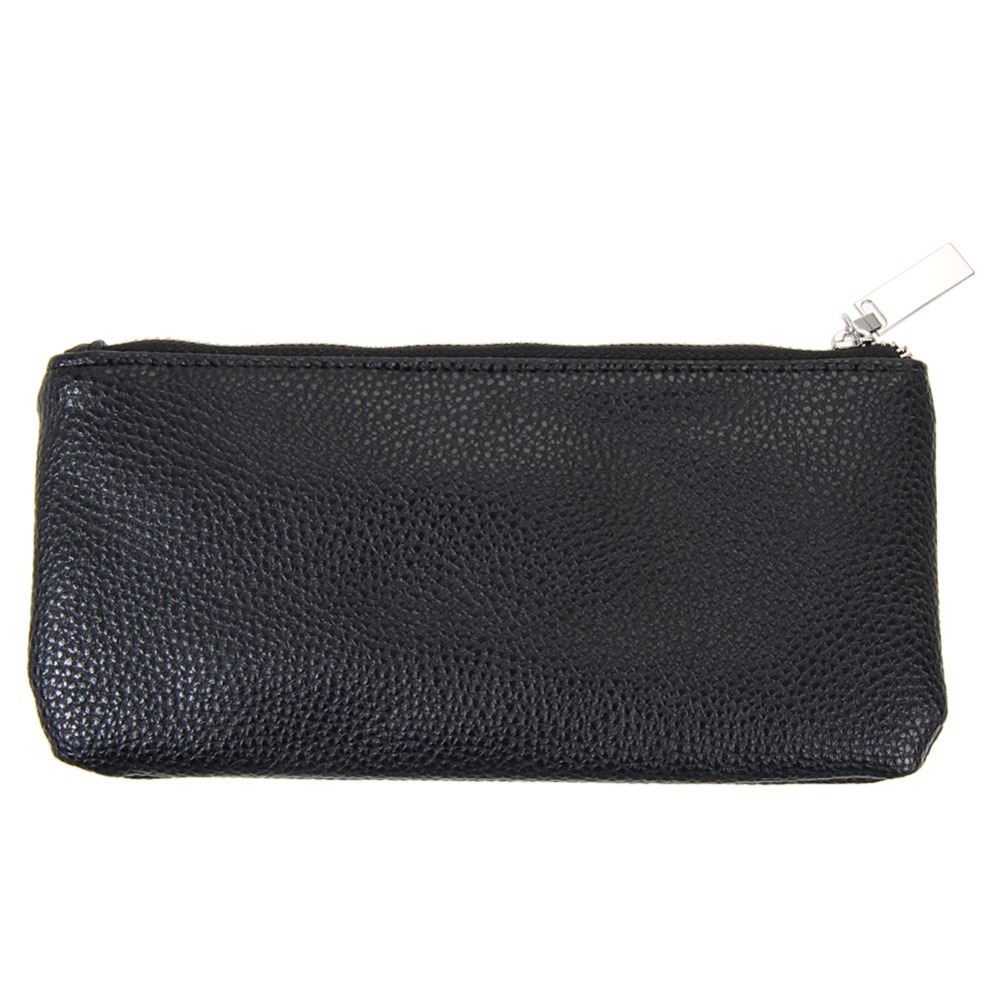 1pc Black Empty Portable Makeup Brush Leather Bag Cosmetic Tool Artificial Leather Bag Brushes Container Soft Case 1pc used 140plc empty slot occupy 140xcp51000
