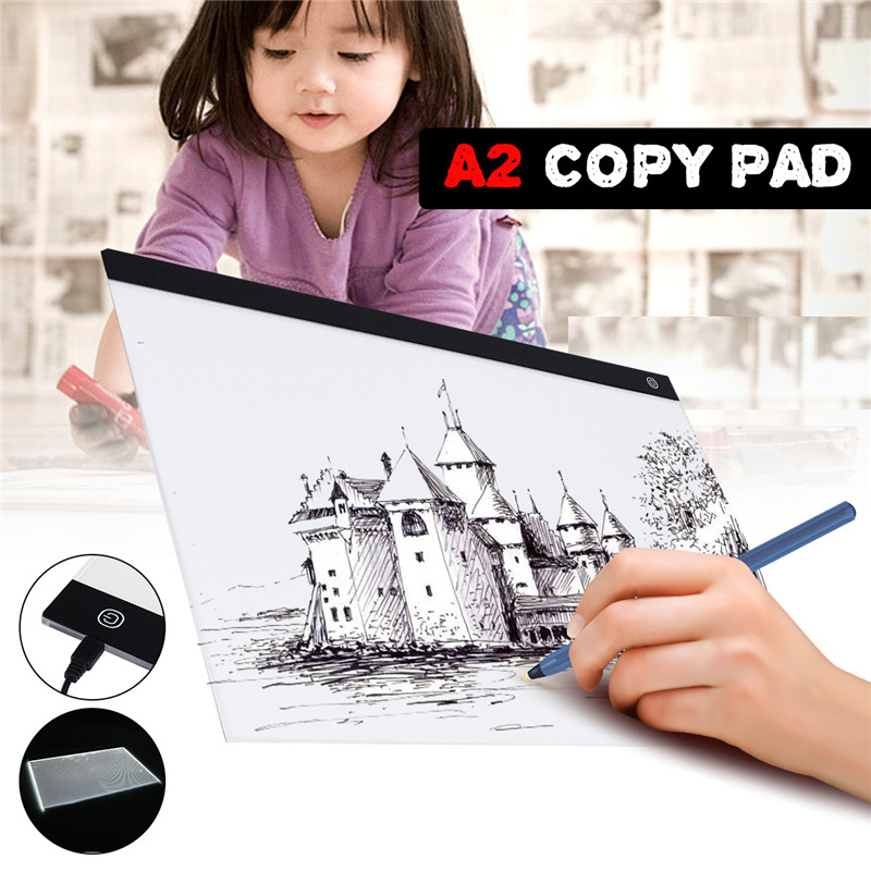 USB A2 LED Drawing Track Comics Tool Light Box Drawing Board Acrylic Material Tattoo Artist Mold Board Table Copy Pad-in Digital Tablets from Computer & Office