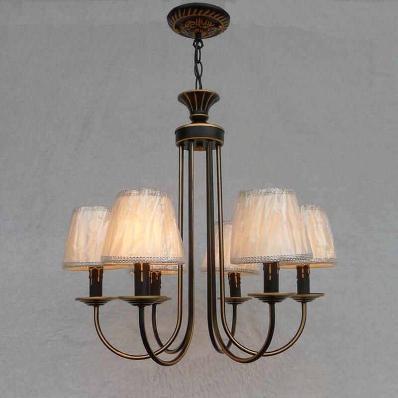 Continental Iron candle chandelier bedroom led light garden bar ceiling lights restaurant lights lamps led gold deco chandelier bulbs candle light e14 85 265v 5w lamps