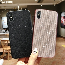 Cqqdoq 2 in 1 Glitter Phone Case For iPhone 6 6S 7 8 Plus Bling Sequine Protection Cases X XR XS MAX Cover Fundas