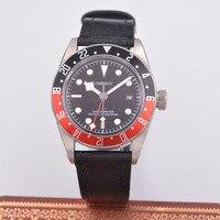 41mm corgeut gmt relógio mecânico automático masculino safira relógio de calendário Relógios mecânicos     -