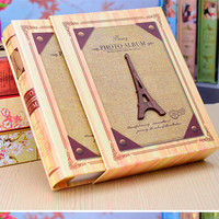 19 Colors Retro Creative Boxed Photo Album 4D Big 6 Inches Eiffel Tower Cover Interleaf Type Loose-leaf Yearbook 40%Off