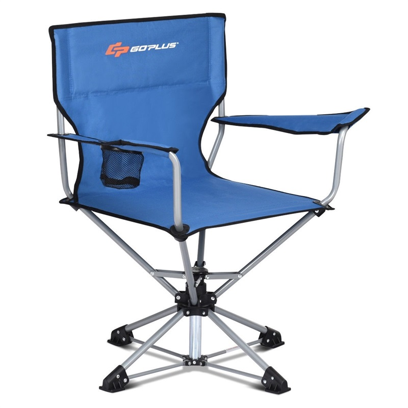 360 Degrees Free Rotation Collapsible Portable Swivel Camping Chair Outdoor Patio Furniture Ergonomically Armrests Chairs OP3680