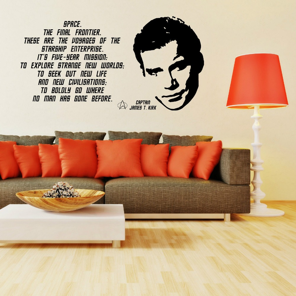 Aliexpress.com : Buy Classic Fashion STAR TREK JAMES T KIRK WILLIAM SHATNER  QUOTE Vinyl Wall Art Sticker Decal Bedroom Wall Decals Wallpaper D339 From  ... Part 32