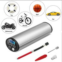 Universal LCD 150PSI 12V Air Compressor Auto Car Bike Electric Tire Inflator Pump Color Random /Car adapter