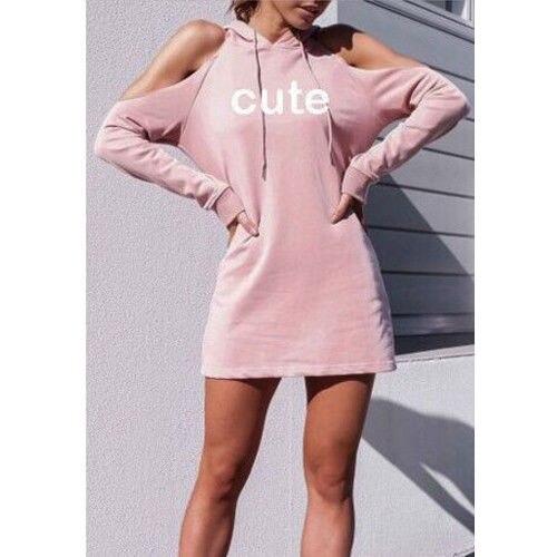 Long Strapless CUTE Letter Printing Europe and America Sweatshirt Fashion Casual 2018 Street Wild Women Hoodie
