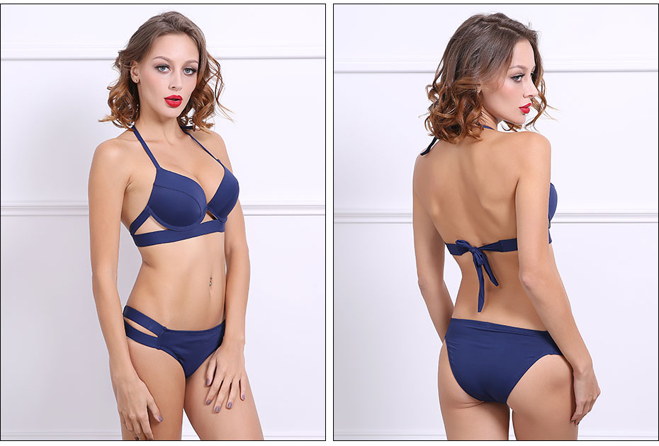 Andzhelika Bikinis Women Bandage Swimsuit Bikini 2019 Sexy Push Up Swimwear Low Waist Bathing Suit Halter Bikinis Suit Swim