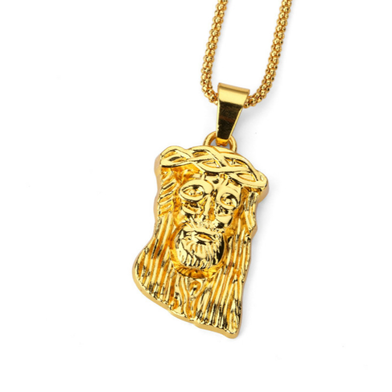 Jesushead gold pendant necklace hip hop supreme bar brick jewelry jesushead gold pendant necklace hip hop supreme bar brick jewelry long pendant necklaces gold chain unisex hipster christmas in pendant necklaces from aloadofball Gallery