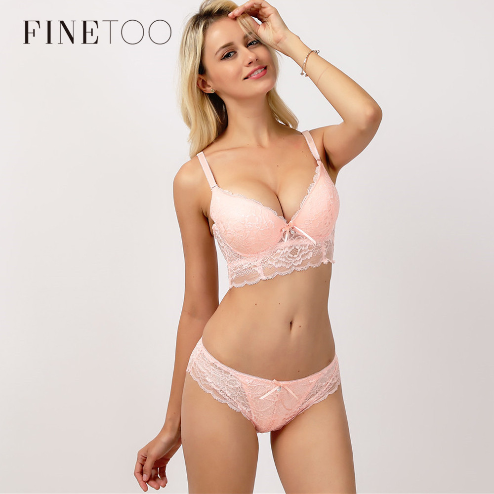 Lace Hollow Out Bralette Underwear Panty   Set   Breathable Lady Push Up   Bra     Set   Women   Bra     Brief     Set   Sexy Deep V Brassiere 3/4 Cup