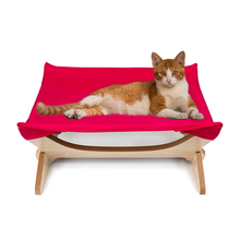 Cat Hammock Bed Lounger Small Dogs Comfy Foldable Hanging Sleeping Hammocks Shelf Seat Beds Cover Cushion
