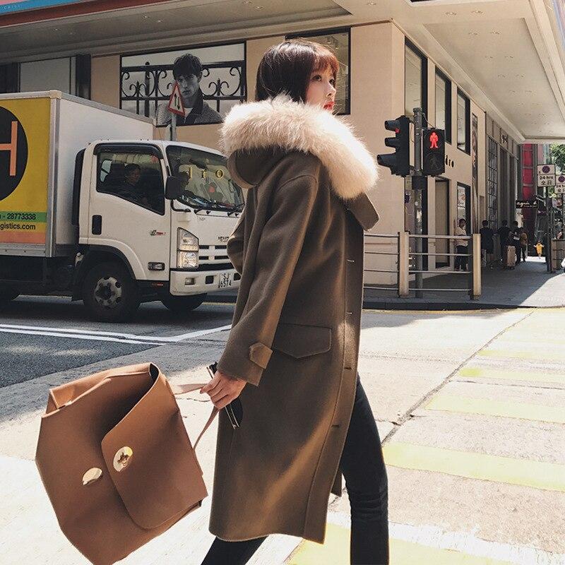 Laine Long Veste Manteaux Mélange Poches Solide Large Taille Unique Camel À Manteau Mode Décontracté Et Féminin Poitrine Hiver En nH0XxRq