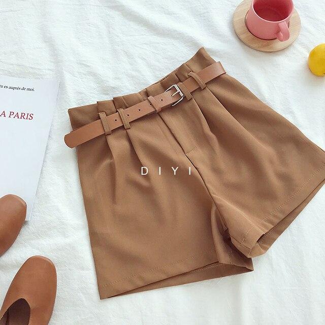 Korean Brief Design White Suit Shorts   4