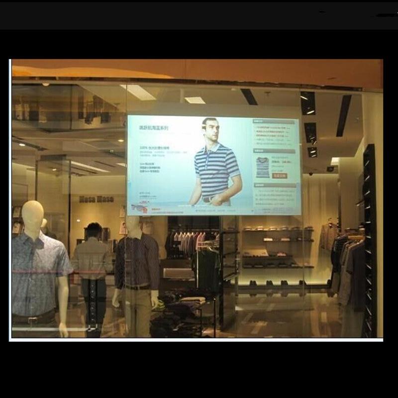 152cmx300cm Transparent Clear Rear Projection Film Screen Film Rear Projection Holographic Film 60''x118''