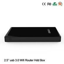 """500G 2.5 """"Disco duro USB 3.0 a Sata HDD Caja con Función de Lector de Tarjetas SD y TF HUB USB 300 M Wifi Componente de la Computadora Reapter"""