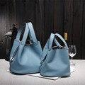 2017 Новых женщин сумки известных брендов высокого качества Из Натуральной кожи сумки дизайнер бренда picotin блокировка дамы shopping bag