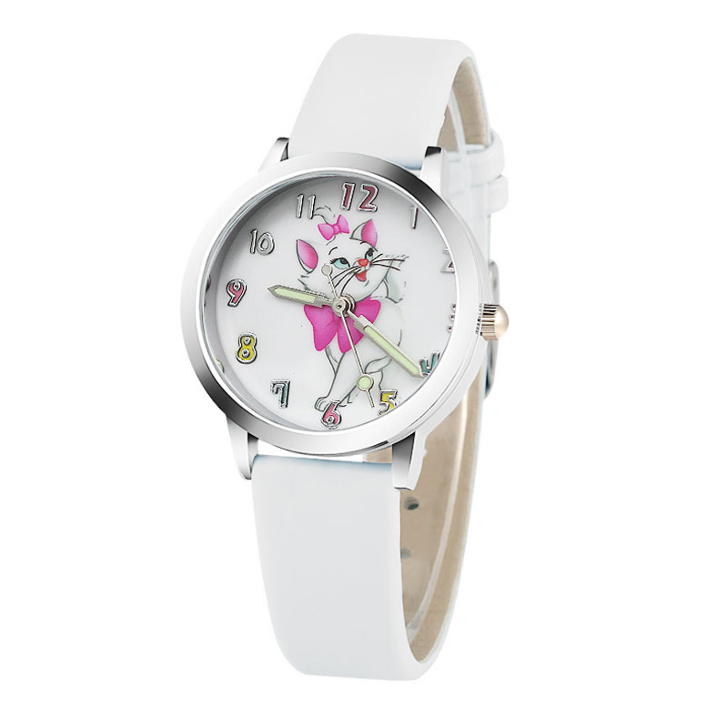 цена на 2018 Children's Watches 3D Cute cat Cartoon Watch Casual Boys Sports Quartz Watches Kids Wristwatch Clock Hour Relojes Relogio