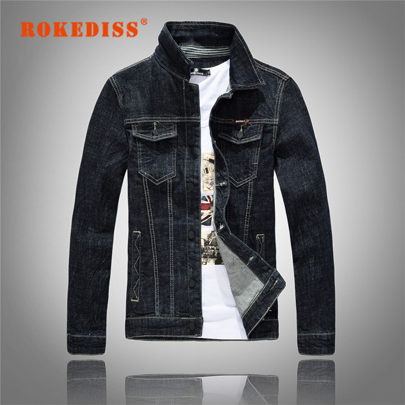 New Arrival Men Denim Jacket coat black Double Pockets Mens Jeans Jackets Coats Slim fit brand Outwear Jaquetas Masculino G328