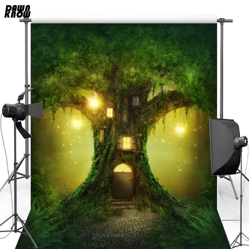 DAWNKNOW Vinylové kulisy Fotografie Popelka Pohádkové strom Dům - Videokamery a fotoaparáty