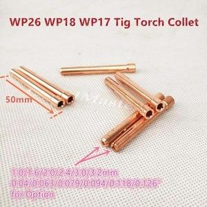 Image 4 - Argon TIG Welding Torch Consumable Tungsten Electrode Collet Body Alumina Nozzle Long Short Cap 26pcs WP18 WP17 WP26 TIG Kits