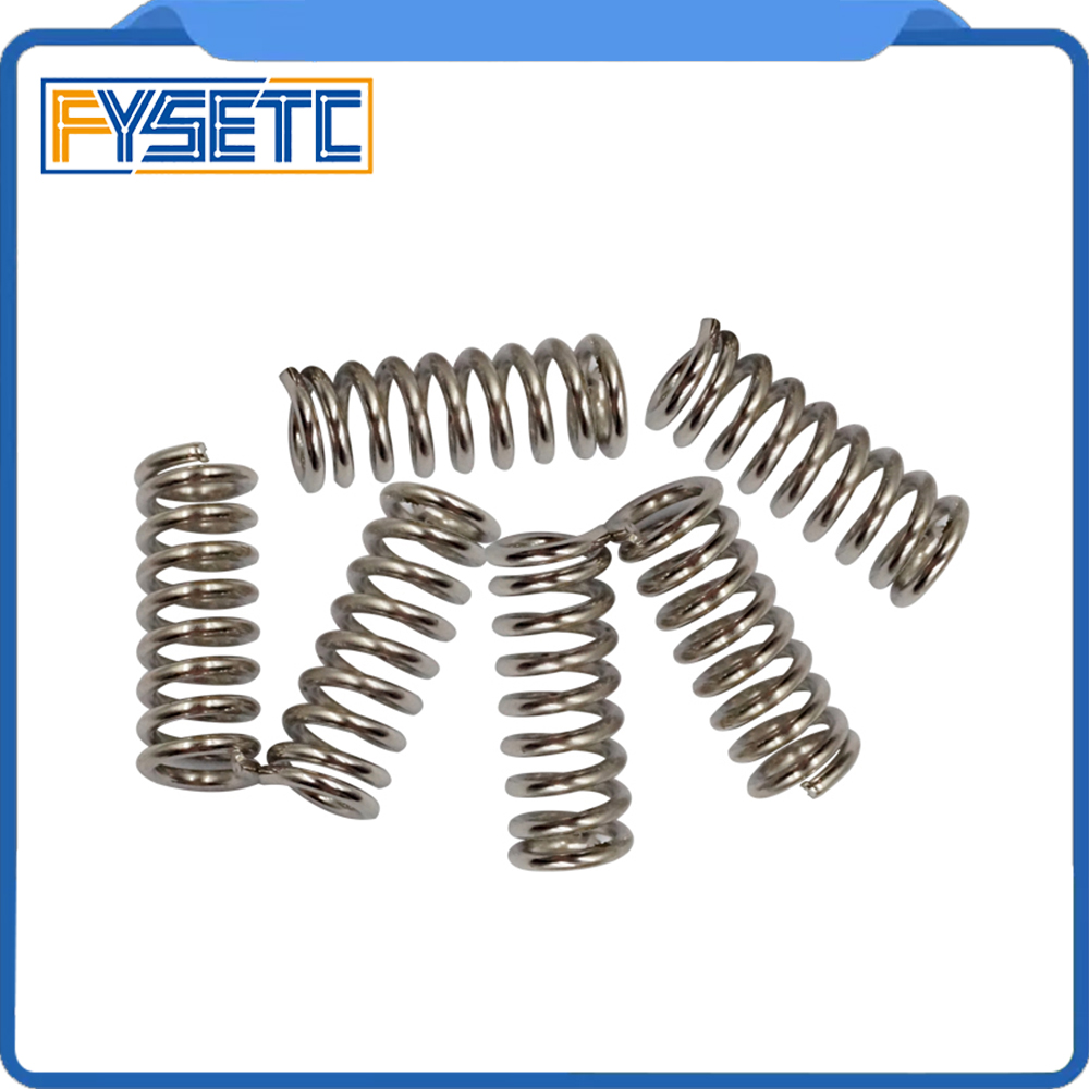 5pcs/lot 3D Printer Accessory Feeder Spring For Ultimaker Wade Extruder Nickel Plating 1.2mm 20 Mm Top Quality