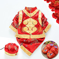 New Babay Chinese Tang Suit Infant New Born Red Clothes Set Chinese Traditional Costume Chinese Ancient Prince Clothes 18