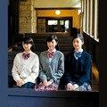 17 colores de alta calidad de estilo japonés uniforme escolar los estudiantes suéter chica mujer de manga larga cardigan escuela JK uniforme cardigan