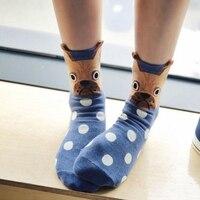Женские зимние носки с маленькими ушками Мультяшные животные Носки для собак