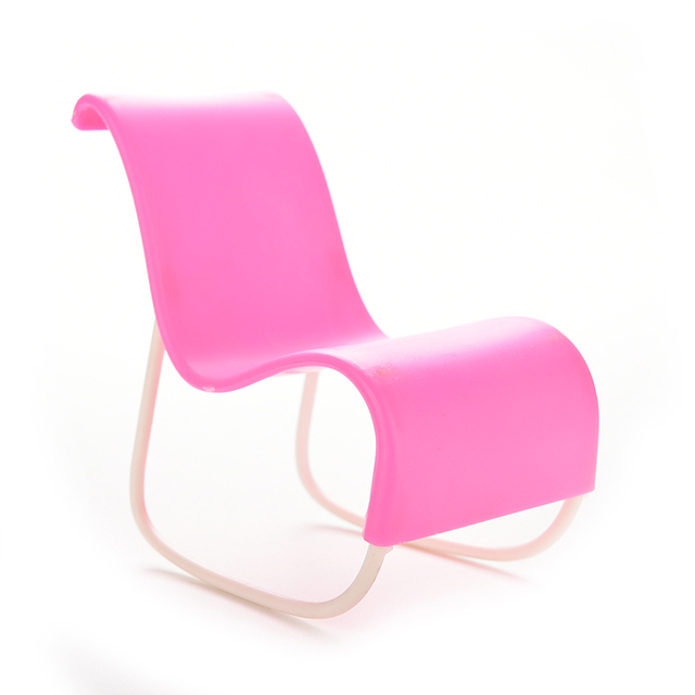 1 Pcs Pink Rocker Toys For Dollu0027s House Decoration Rocking Chair For Barbie  Doll Parts Accessories